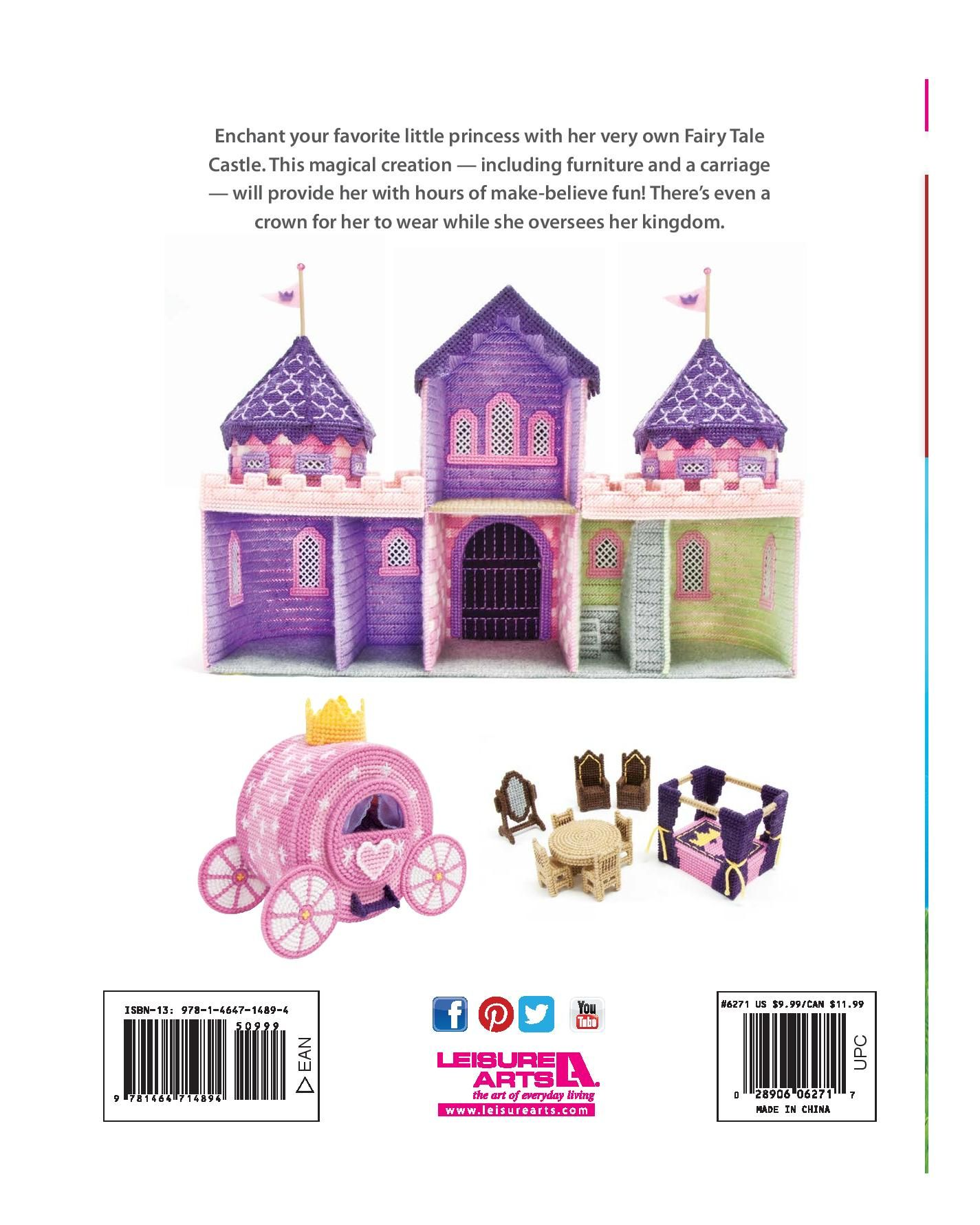 Fairy tale castle 5050 plastic canvas pinterest plastic the best of mary maxim fairy tale castle ebook leisure arts fandeluxe Images