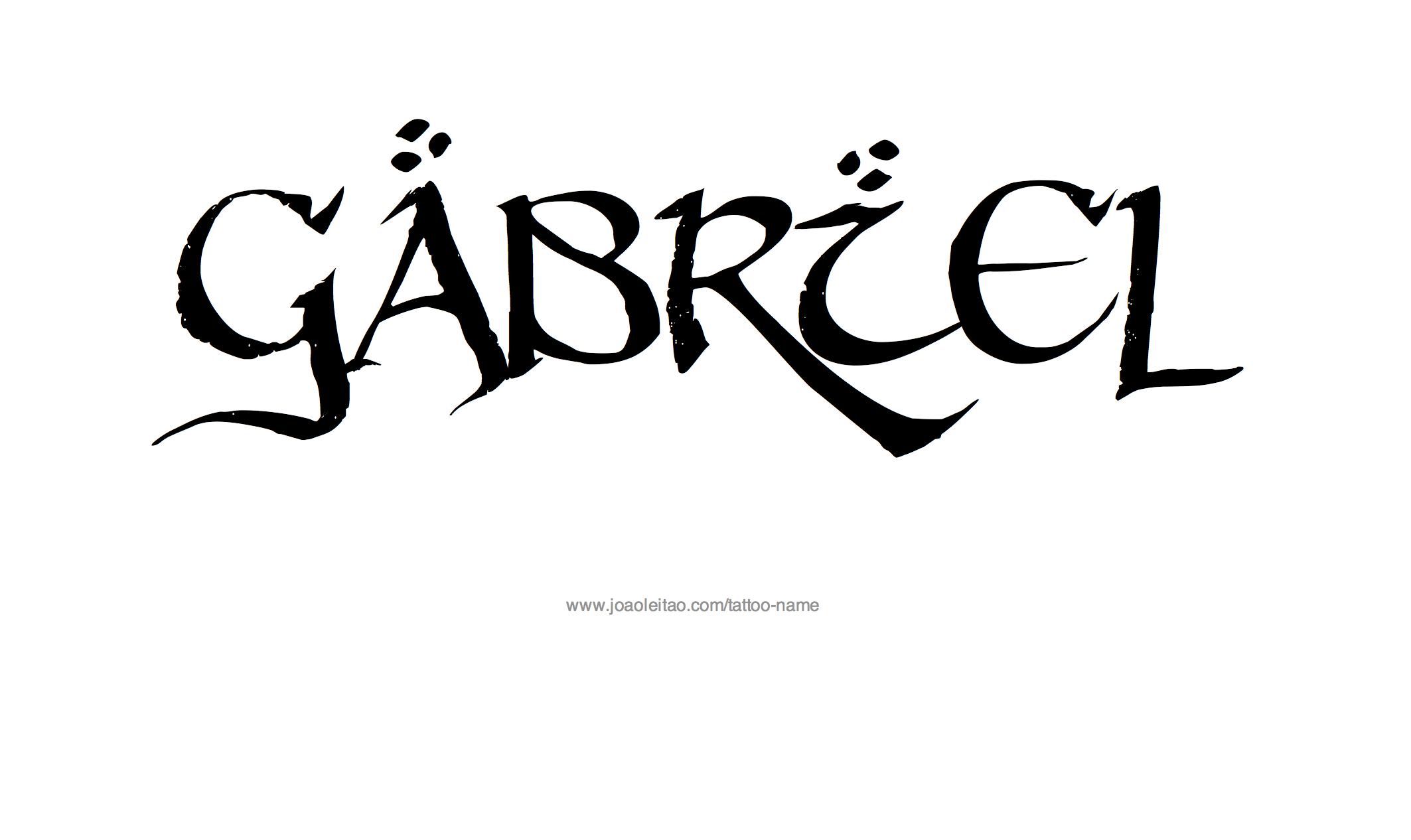 Gabriel Name Tattoo Designs Name Tattoo Designs Name Tattoo Gabriel