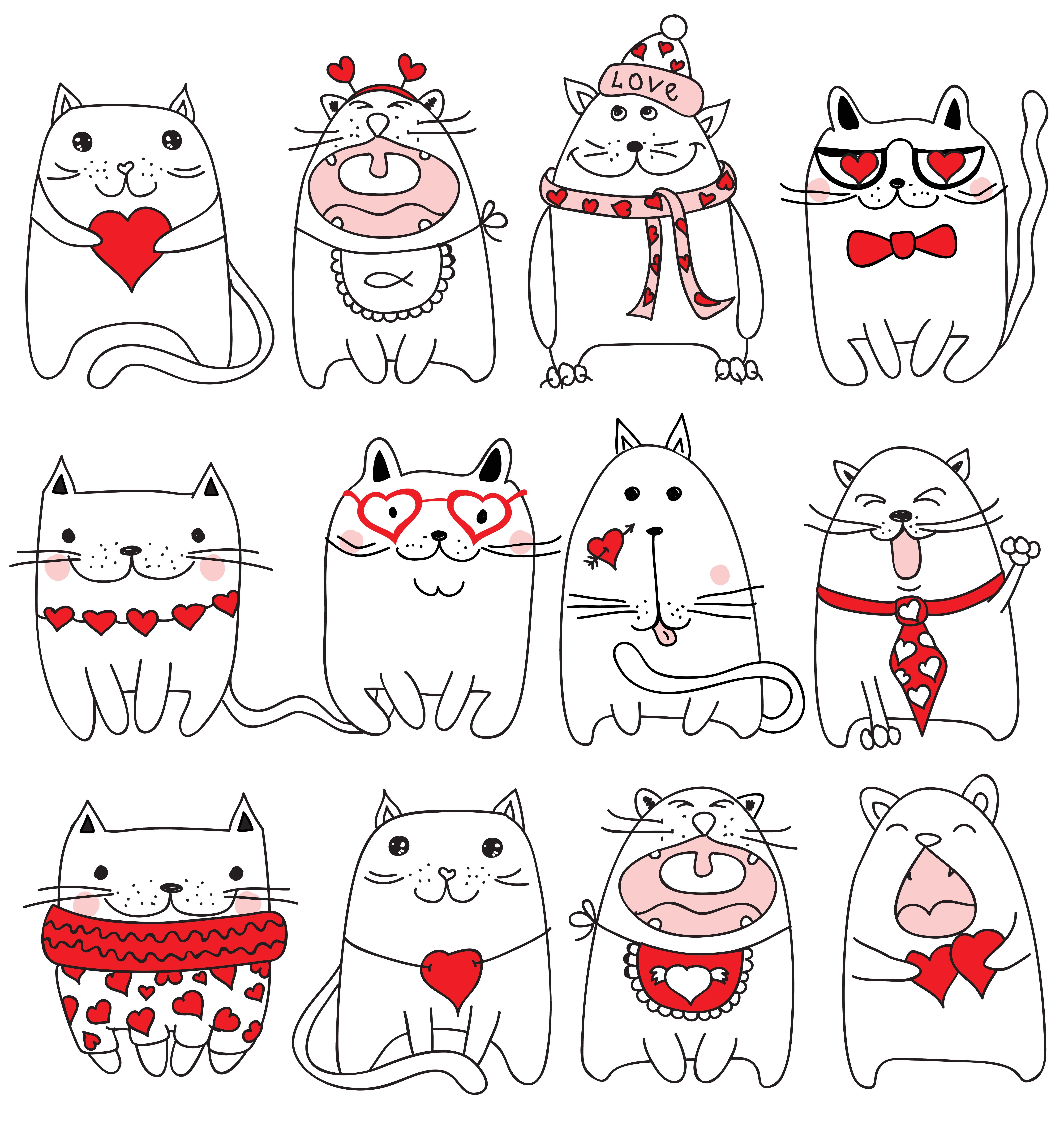 Happy Valentine's CAT's #cat #valentine #cute #happy