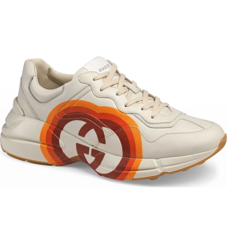 Gucci Rhyton Sneakers With Gg Logo In