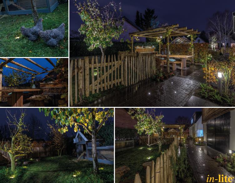 Boomgaard eethoek sfeervol buiten outdoor lighting 12v tuinverlichting inspiratie