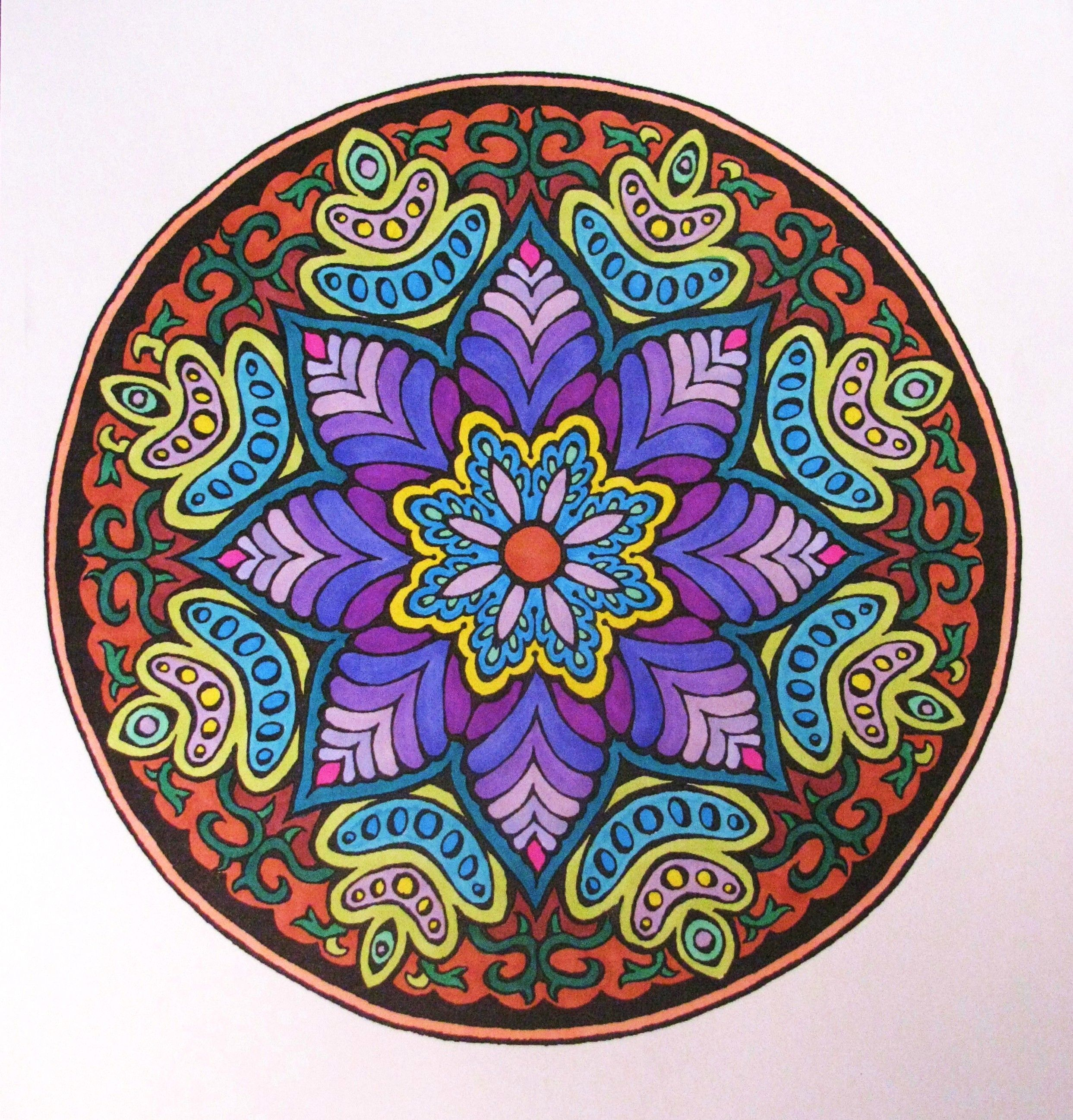 From the Mystic Mandala coloring book from Dover