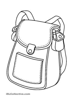 Schoolbag And School Supplies Coloring Pages Coloring Pages To