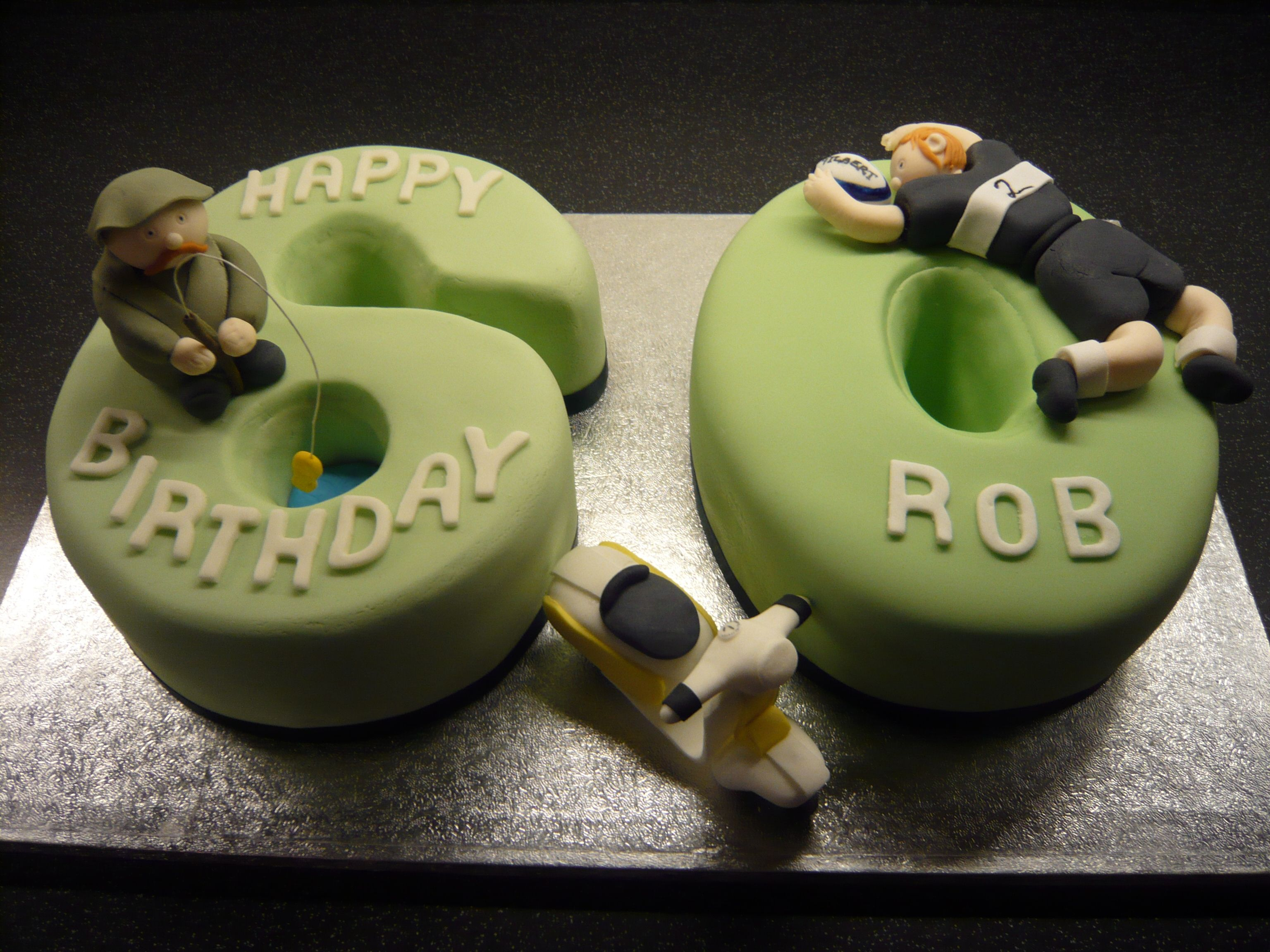 60 With Caracters Cool Cakes 60th Birthday Cakes 60th