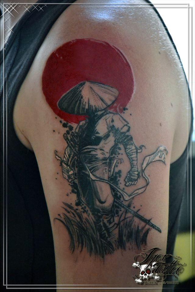 b6dd14223f604 samurai tattoo tatuaggio red and black | Tattoos | Samurai tattoo ...