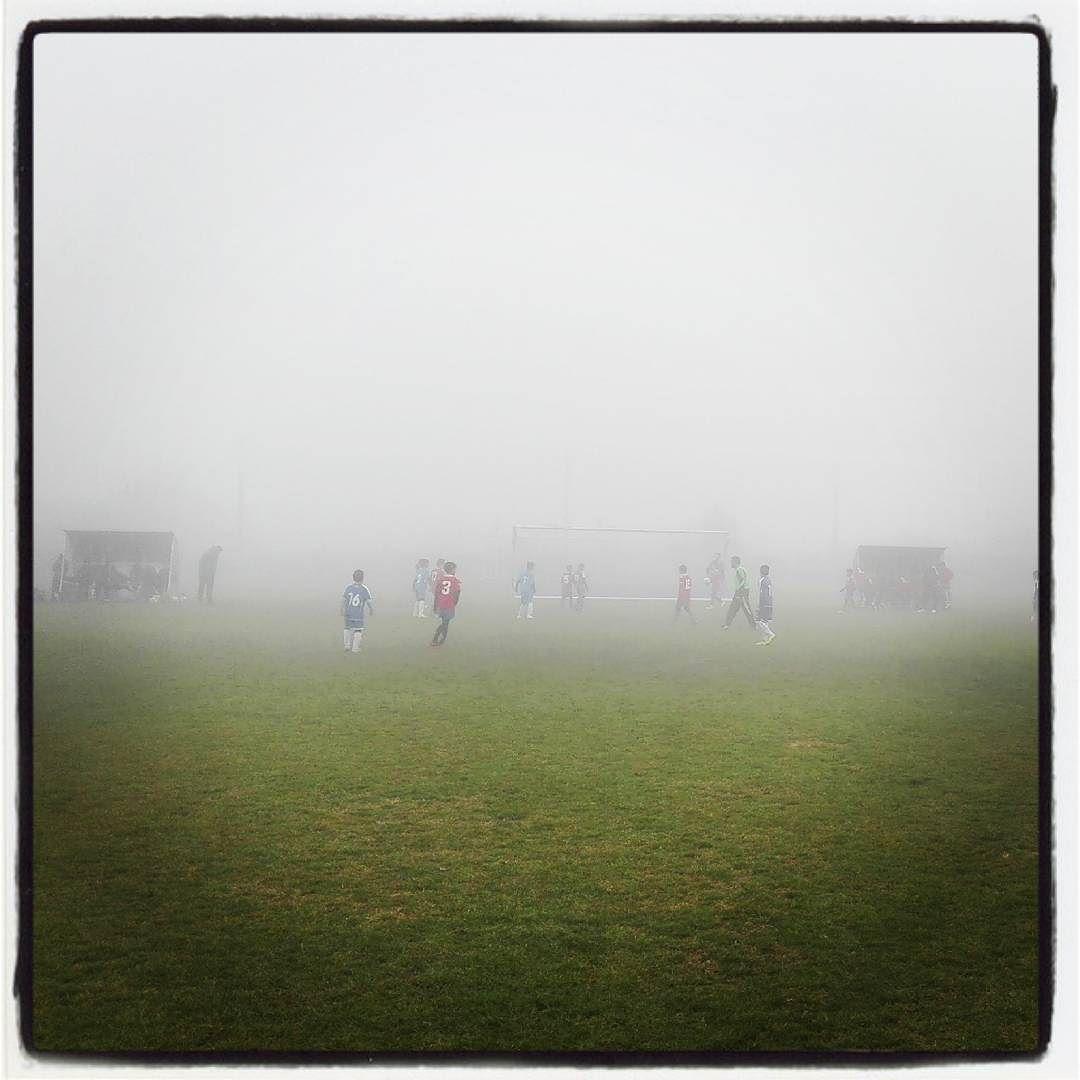 Partidos en la niebla #igersnavarra #estaes_navarra #loves_navarra #fútbol #Funes #Navarra
