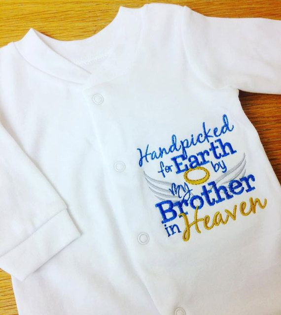 Rainbow Baby Hand Picked For Earth Custom Name Personalised Baby Grow