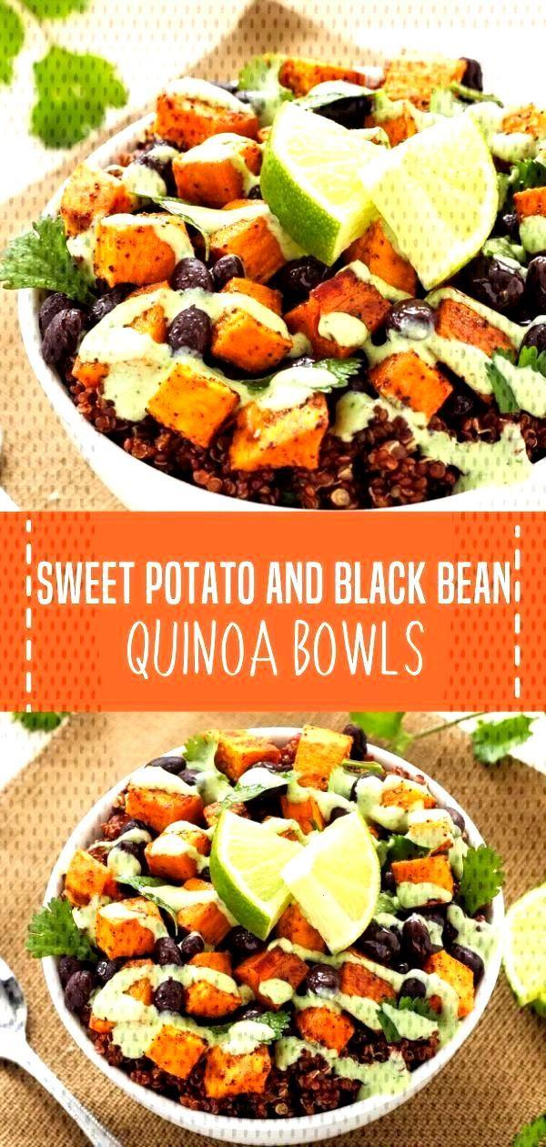 Sweet Potato and Black Bean Quinoa Bowls - Quick and Easy Family Recipes - bowl Sweet Potato and Bl
