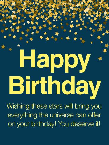 9ec0cc5938892 Thousands Stars - Happy Birthday Wishes Card