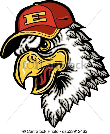0f646aee06b Vector - eagle baseball mascot - stock illustration