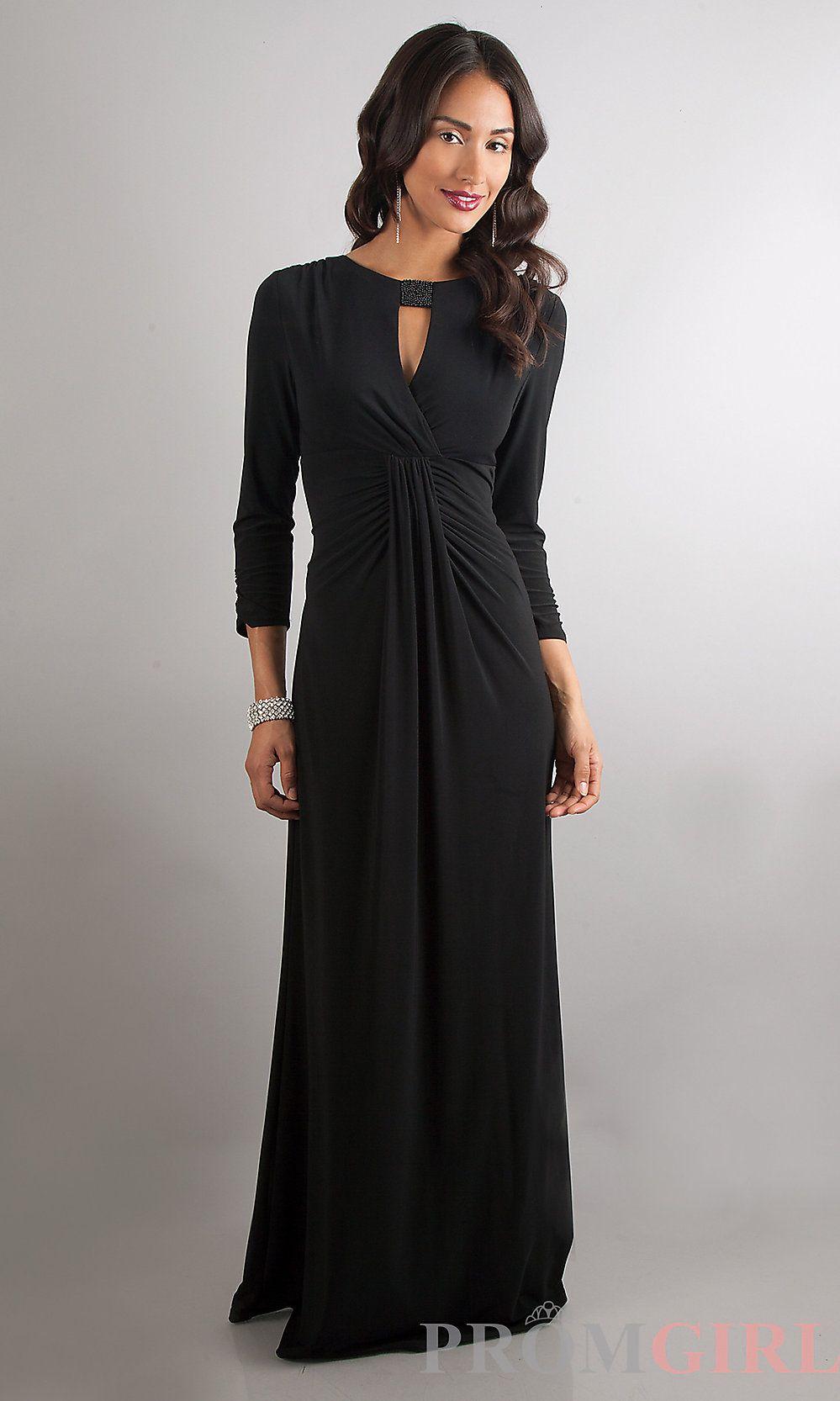 Long sleeve black wedding dresses  Classy black long dress  Loving the look   Dresses  Pinterest