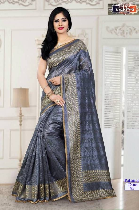 75b07d5eff Vichitra Pattu Silk Sarees (10 pc catalog) | wholesale sarees ...