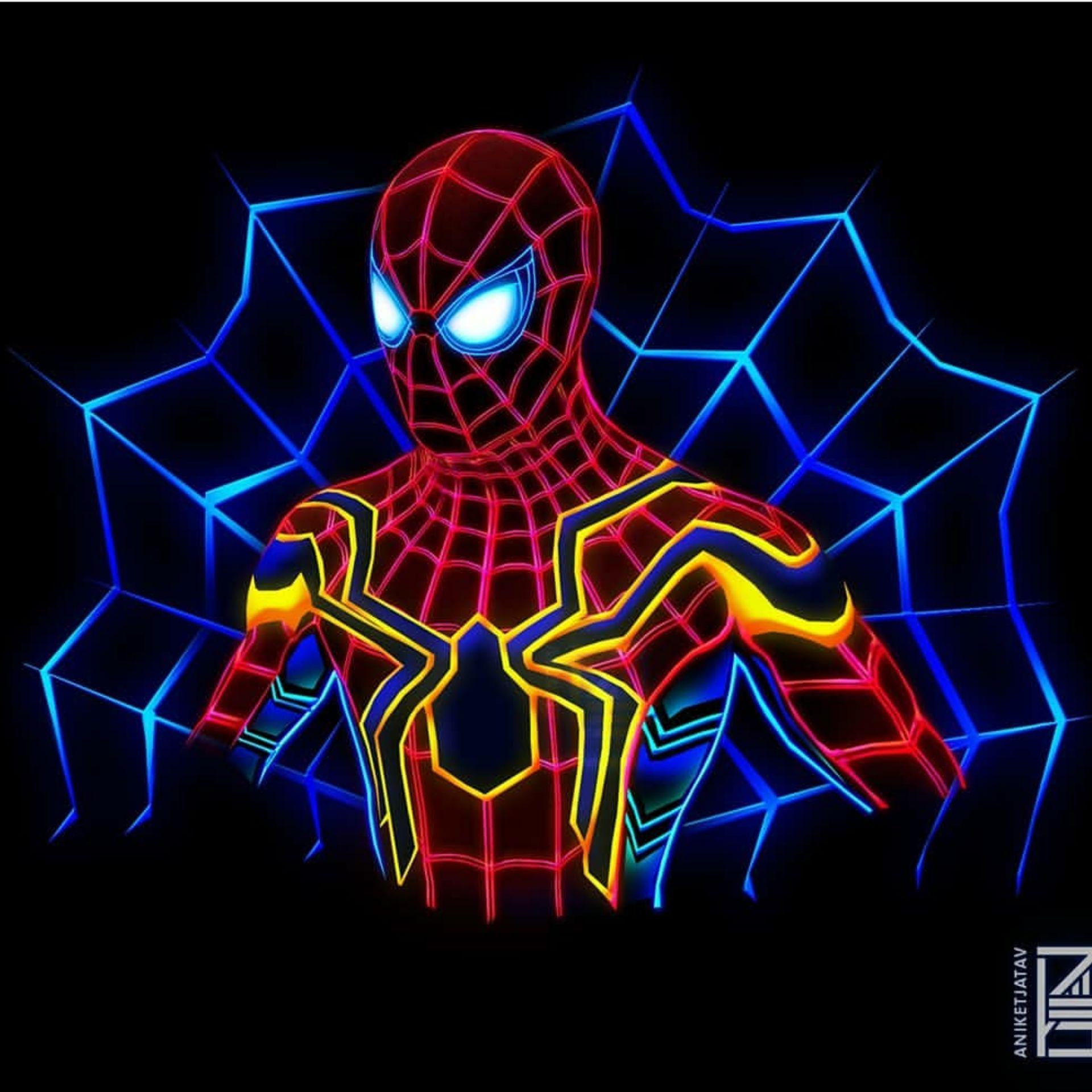 Neon Spider Man Aniketjatav