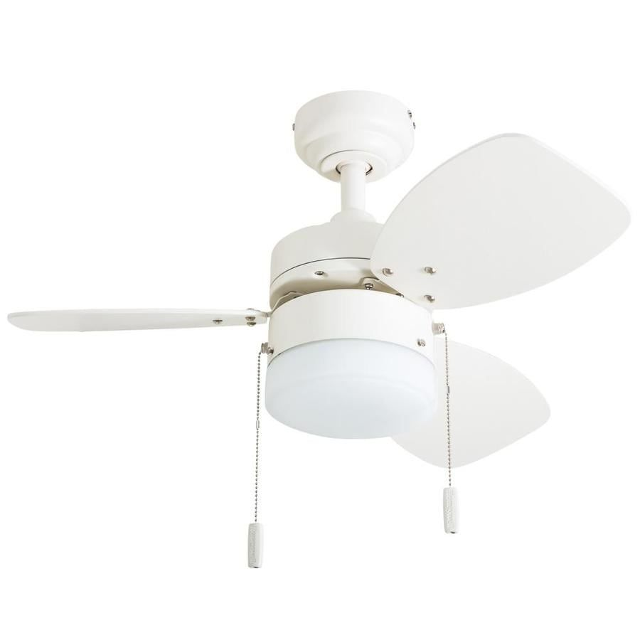 Honeywell Ocean Breeze 28 In Matte White Led Indoor Ceiling Fan With Light Kit 3 Blade Lowes Com In 2020 Ceiling Fan With Light Led Ceiling Fan Fan Light