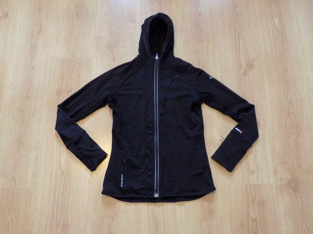 Icebreaker Gt 260 Women Merino Wool Sweatshirt Jacket Jacke Top Hood Zip Size M Fashion Clothing Shoes Accessories Womens Vest Jacket Fashion Wear Jackets