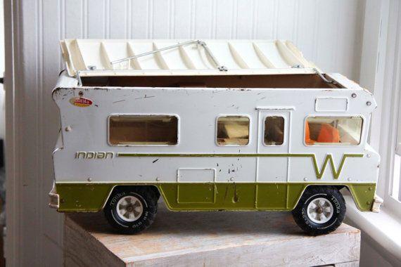 Vintage Metal Tonka Winnebago Toy 70s Indian RV By MollyFinds