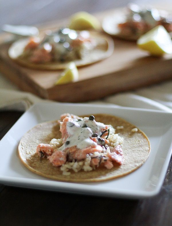 Thursday Salmon Tacos With Caper Dill Yogurt Sauce Used Mahi Mahi Delicious Food Favorite Recipes Salmon Tacos