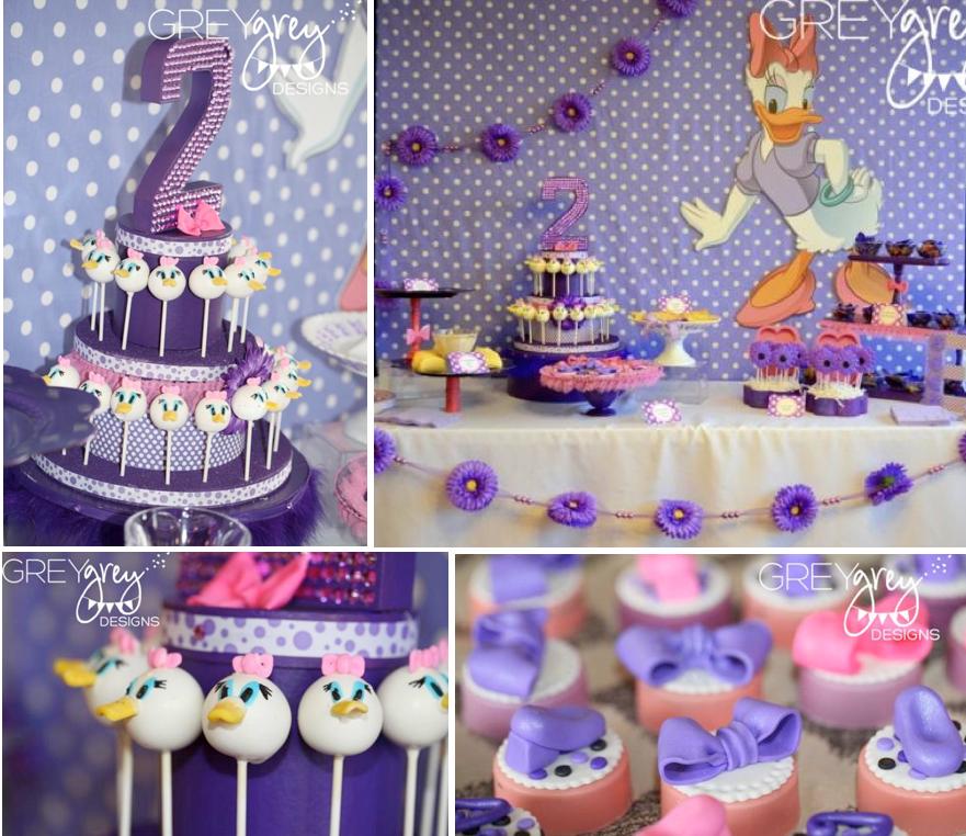 Disney Daisy Duck Purple Girl 2nd Birthday Party Planning Ideas ...