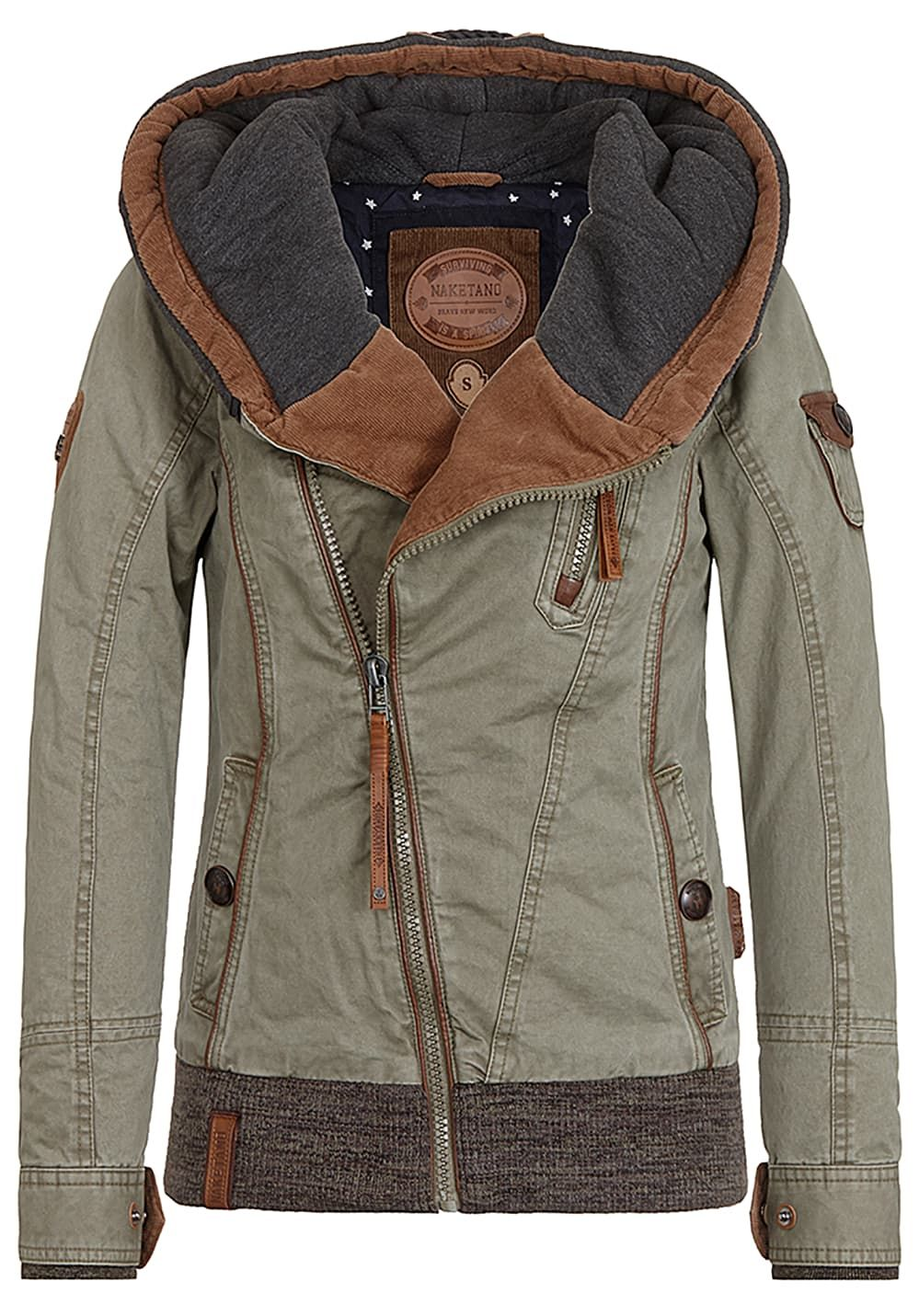 NAKETANO Walk The Line Jacket for Women Green