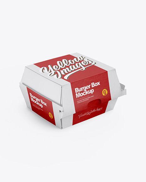 Download Free Mockup Free Mockups Paper Burger Box Mockup - Half ...