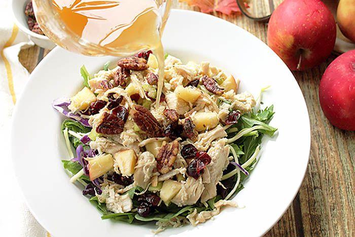 Harvest Chicken Salad with Apple Cider Vinaigrette
