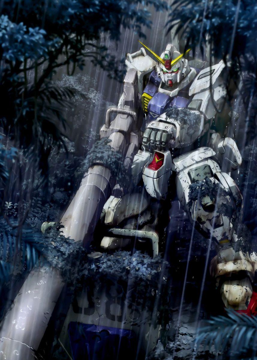 Gundam Robot Mecha Space Poster By Team Awesome Displate Gundam Wallpapers Gundam Art Gundam Wallpaper