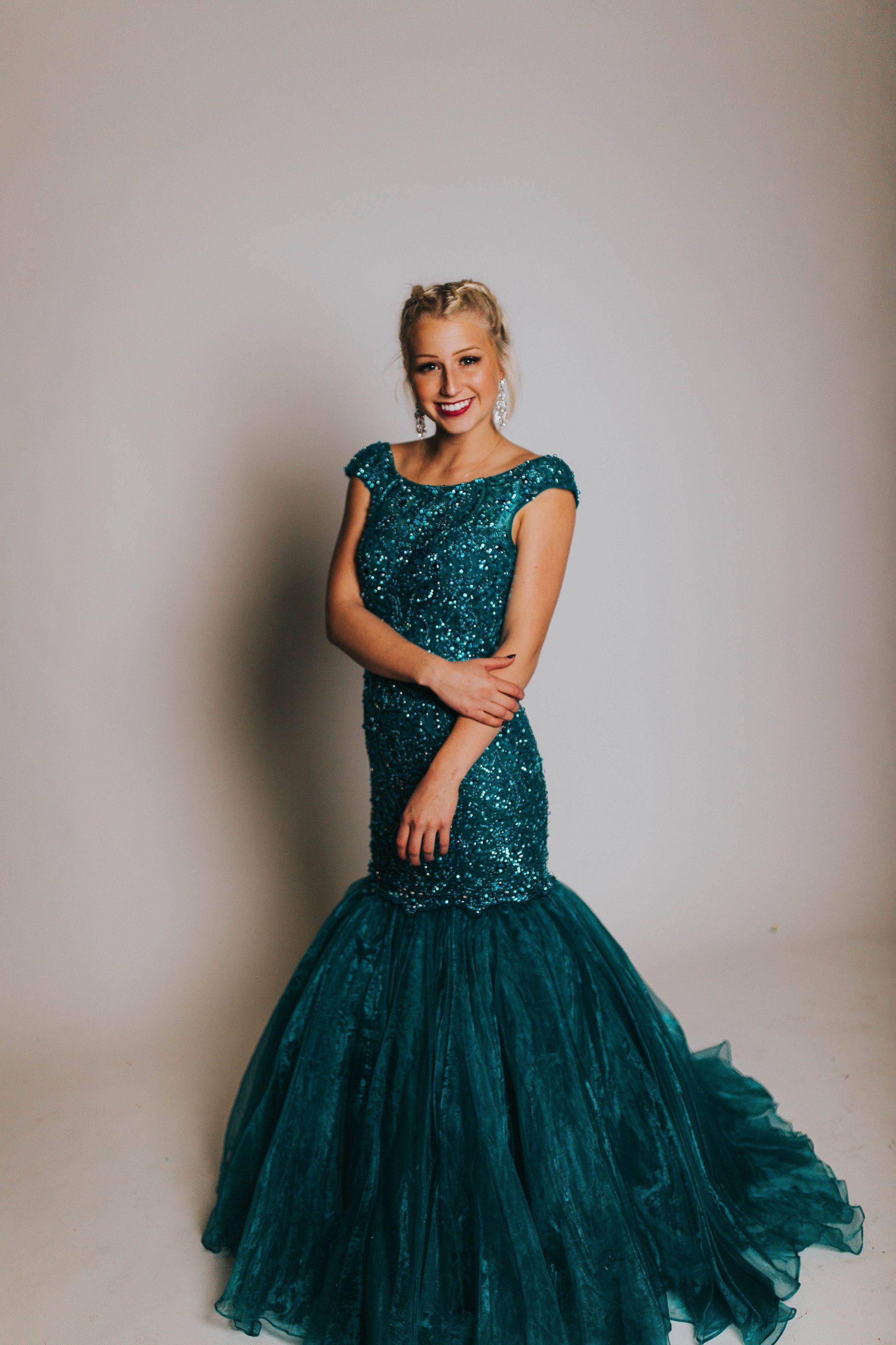 Turquoise Beaded Dress