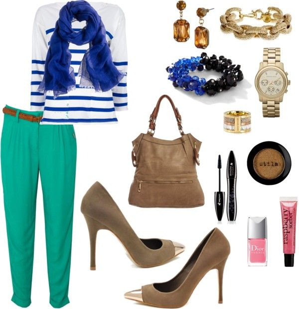 """Turquoise bottom"" by metrobasics on Polyvore"