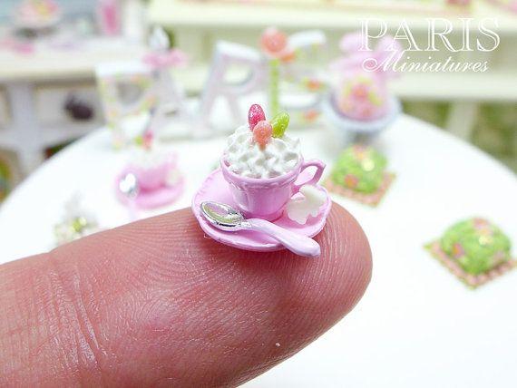 ♡ ♡ Cup of Easter Cappuccino with Bunny Cookie por ParisMiniatures