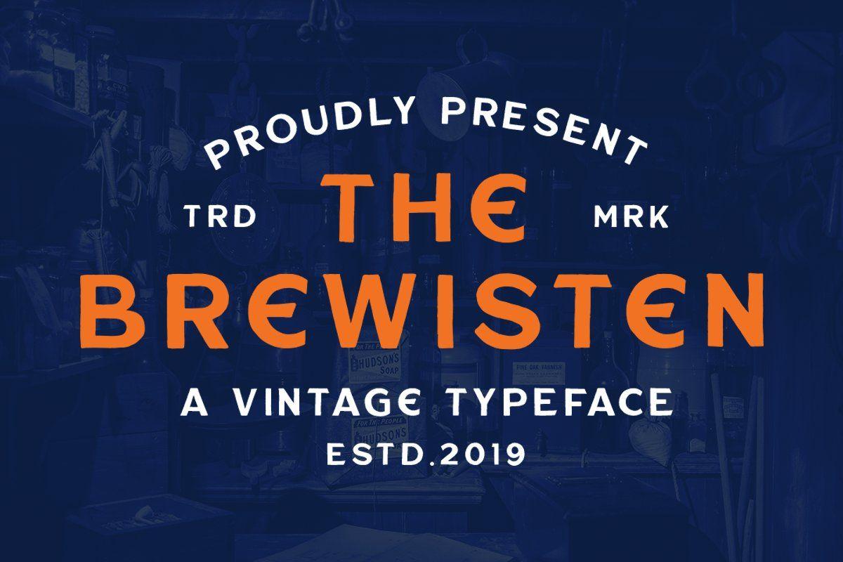 Brewisten Vintage Font Extras In 2020 Vintage Fonts Instagram Template Design Classic Wedding Invitations
