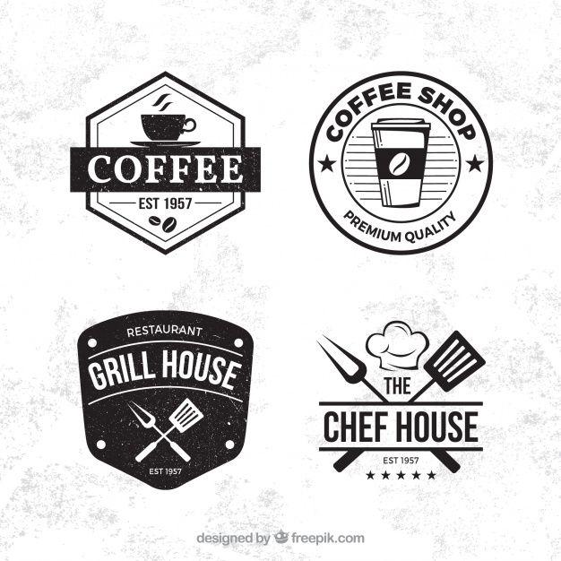 Skachivajte Kollekciya Etiketok S Vintazhnym Stilem Besplatno In 2020 Coffee Logo Logo Restaurant Coffee Shop