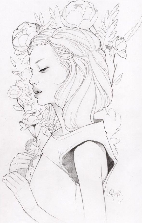 Little Lives Lineart An Art Print By Kelsey Beckett Illustration Art Art Art Drawings