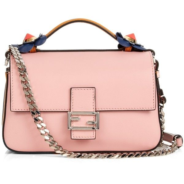 Fendi Fashion Show Double Micro Baguette cross-body bag (3,935 SAR) ❤ liked  on Polyvore featuring bags, handbags, shoulder bags, blue multi, blue  crossbody ... eef2cc252d