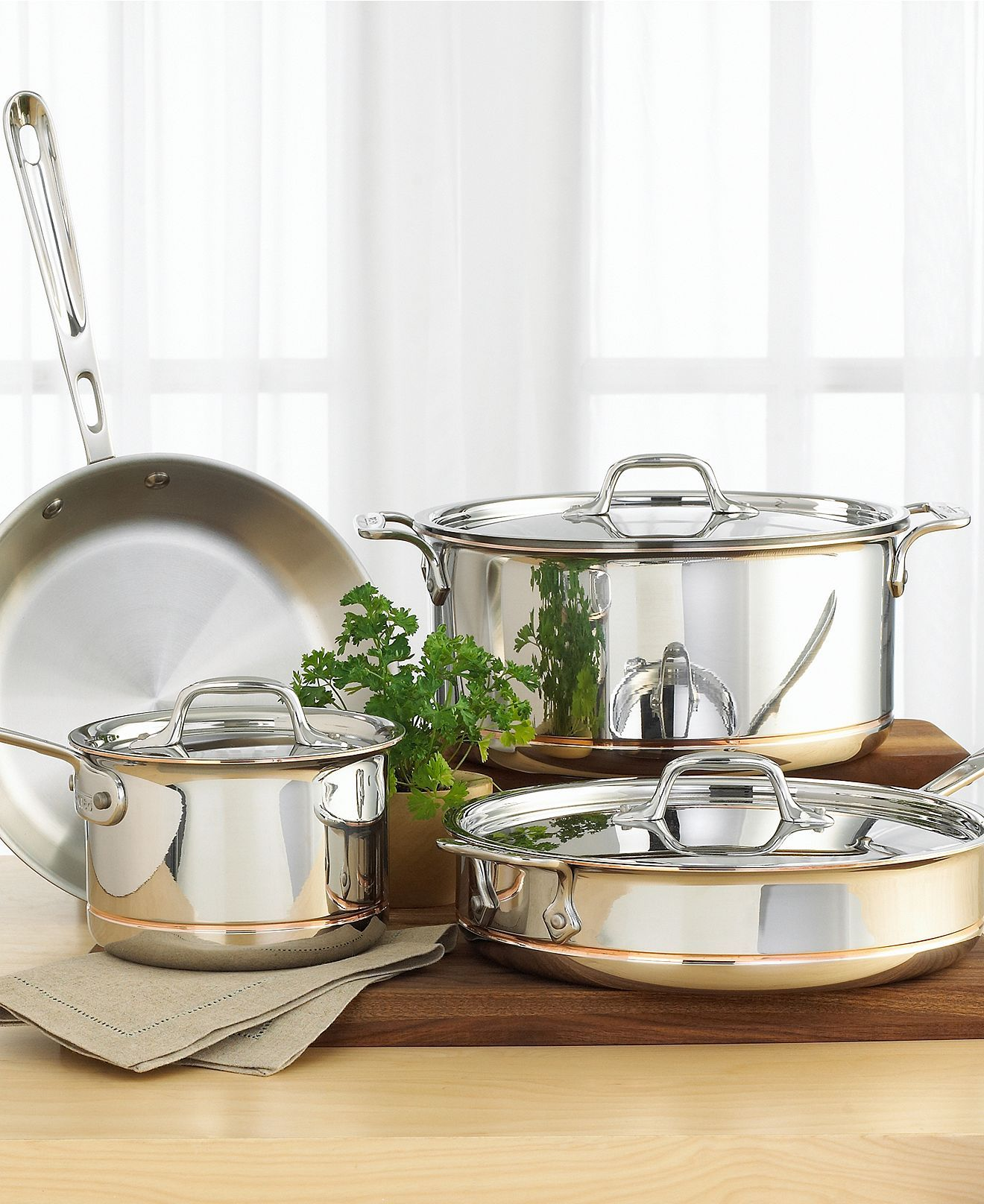 All Clad Copper Core 7 Piece Cookware Set Awesome Design
