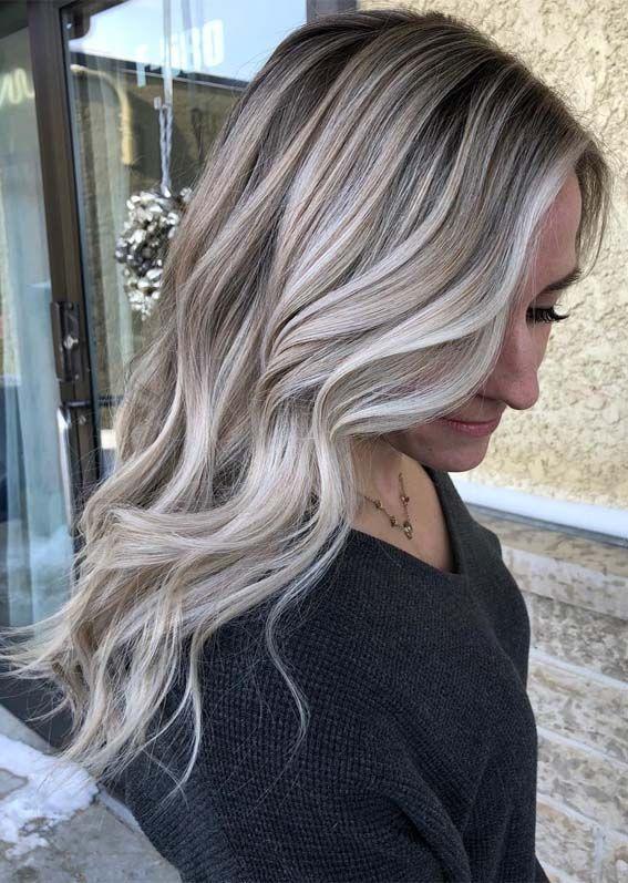 impressive ice blonde hair color