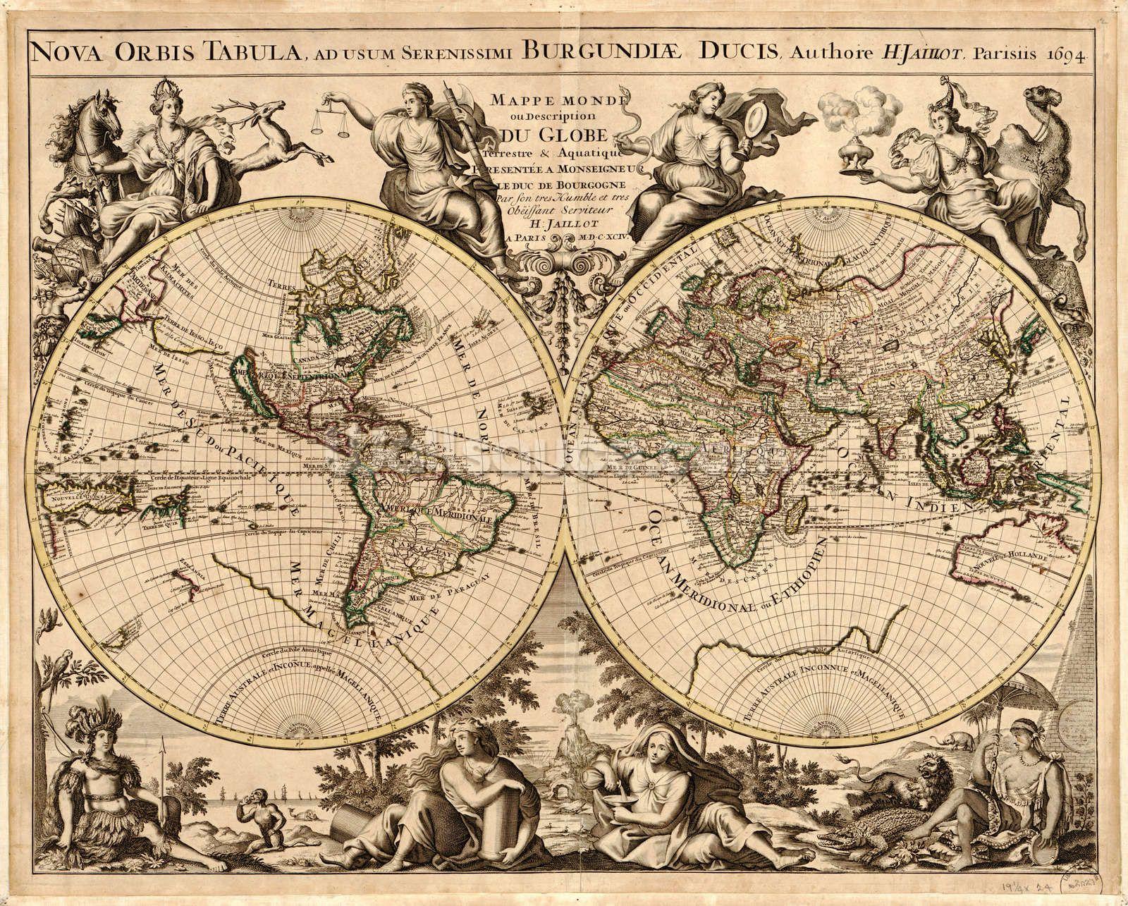 High Quality Antique Map Wallpaper Wallsauce Us Antique World Map Antique Map Map Art Print