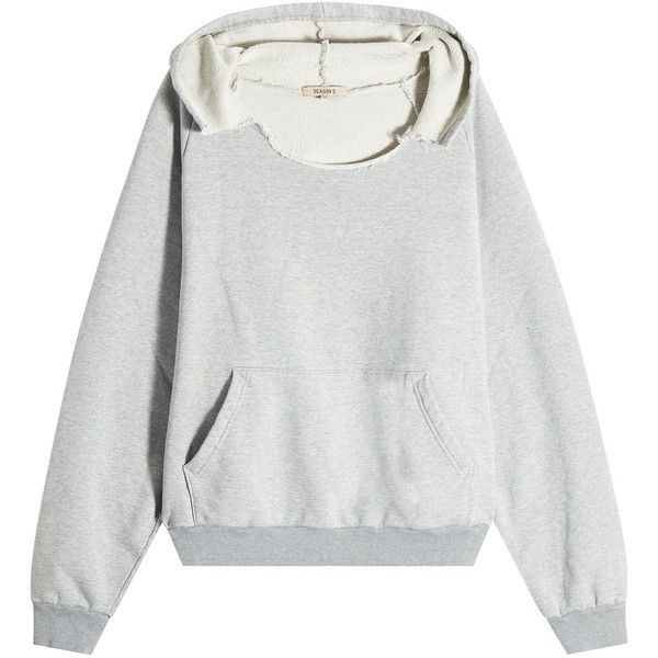 Yeezy Distressed Cotton Hoodie 235 Liked On Polyvore Featuring