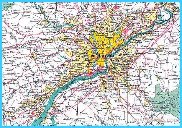 cool Map of Philadelphia | Travelsmaps | Philadelphia, Map, City