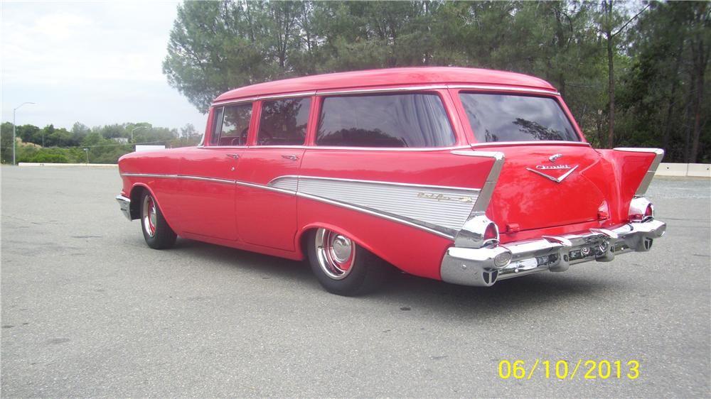 1957 chevrolet 210 custom 4 door station wagon 154443 for 1955 chevy 4 door wagon