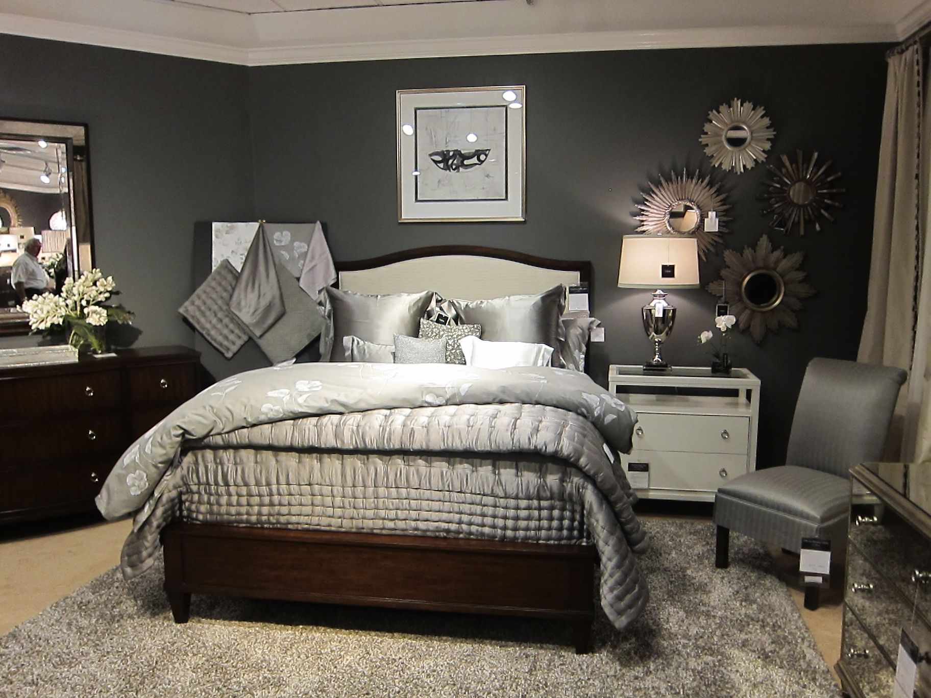 Benjamin moore iron mountain paint in our ethan allen Best gray paint for bedroom benjamin moore