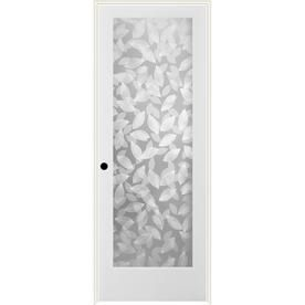 Reliabilt Botanical Solid Core Frosted Gl Single Prehung Interior Door Common 24 In X 80 Actual 25 5 82 1
