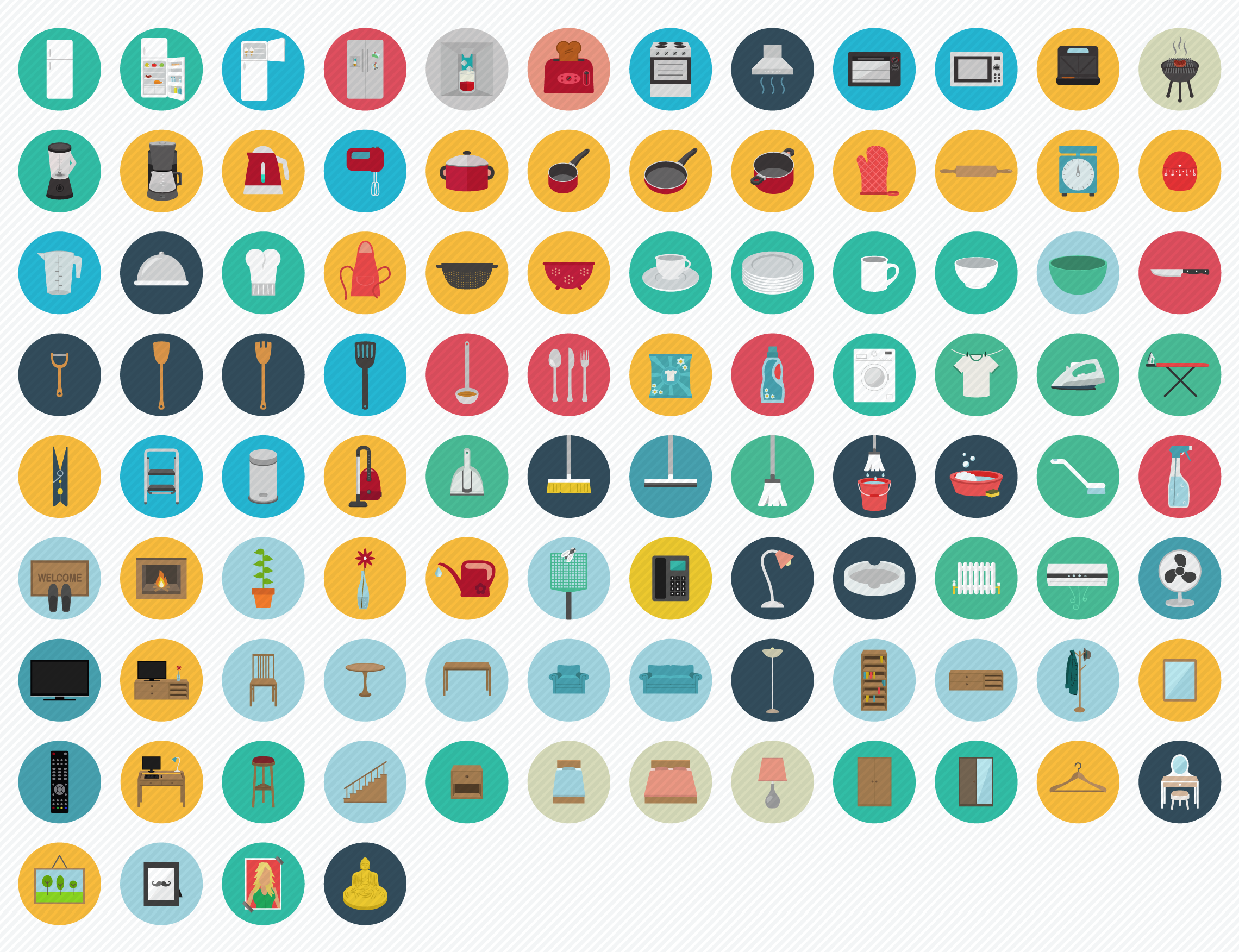 2500 Vector flat round icons Vol 1 Icon set, Cool