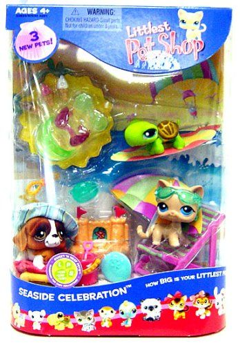 Amazon Com Littlest Pet Shop Figures Playset Summer Seaside Celebration Toys Games Lps Toys Little Pet Shop Toys Pet Shop