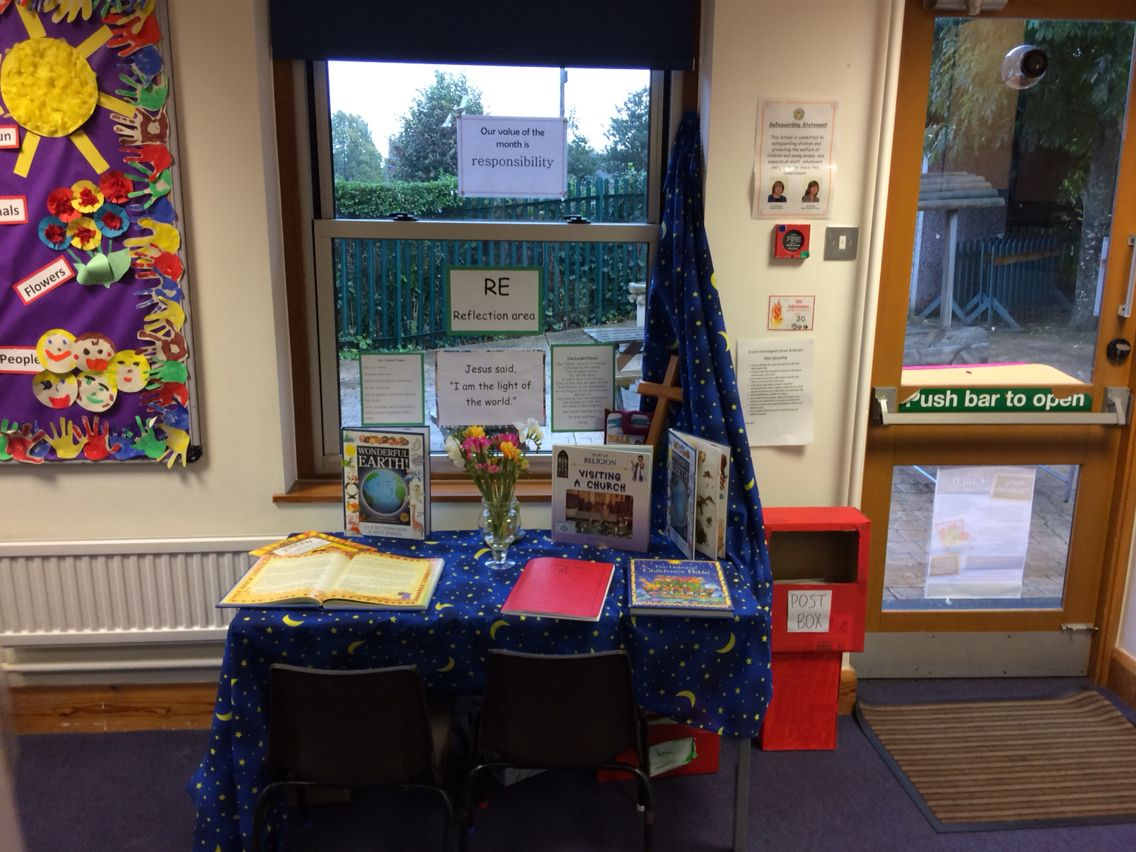 RE reflection area | My classroom and display boards ...
