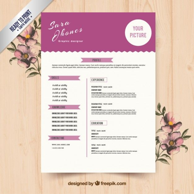 Download Cute Purple Resume Template For Free Resume Templates Resume Template Resume Template Free