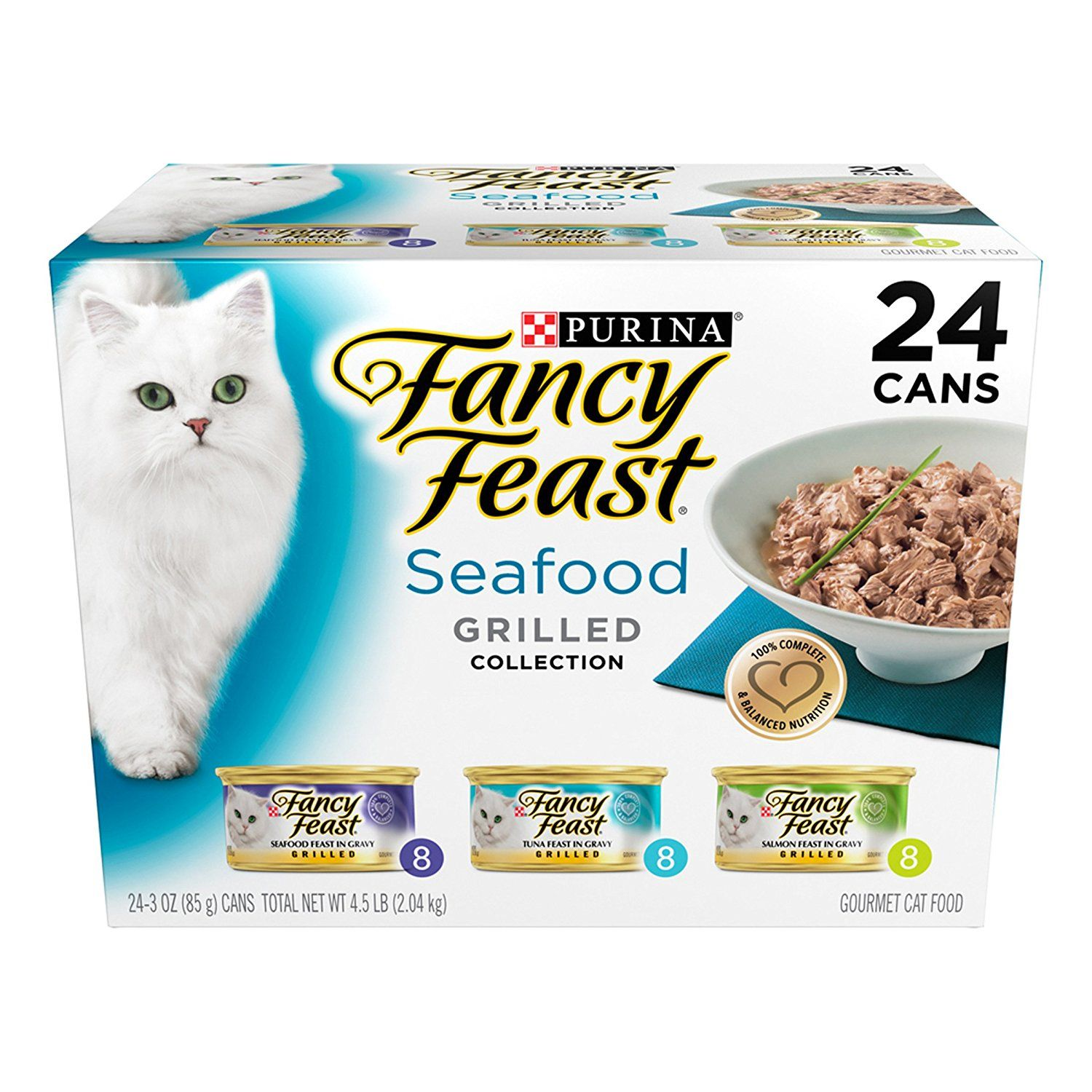 Purina Fancy Feast Grilled Gourmet Wet Cat Food 24 3 Oz Cans