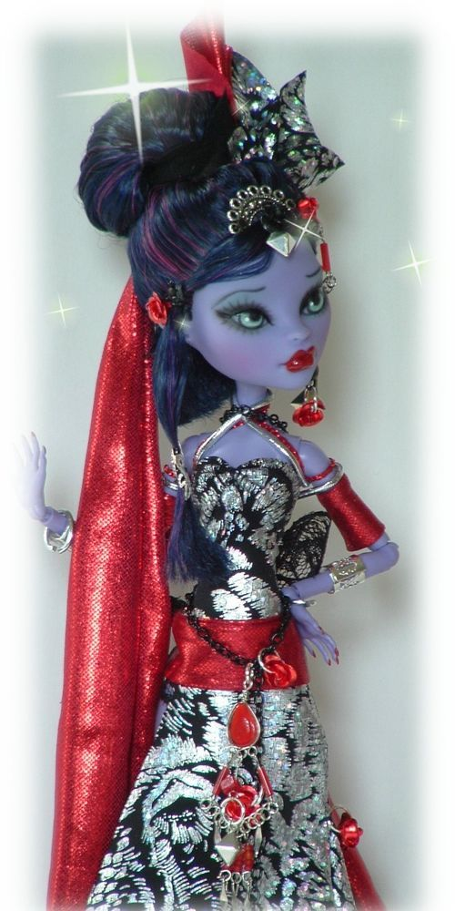 *Monster high repaint doll fancy costume ooak custom jane boo little #monsterhighrepaintdoll