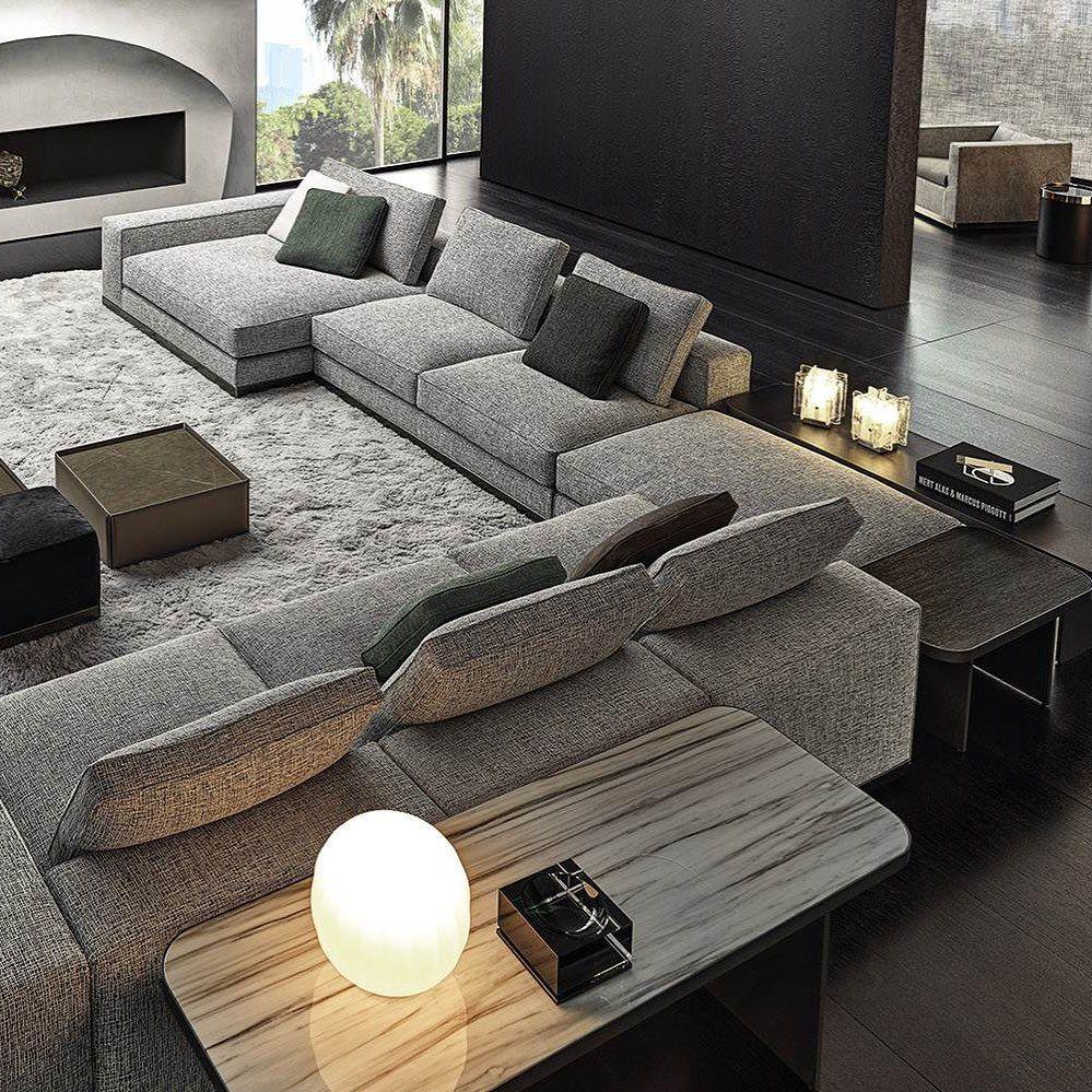 Minotti Lyon On Instagram West Sofa System Rodolfo Dordoni Design 2019 Living Room Sofa Design Couches Living Room Apartment Living Room Design Modern #sofa #designs #living #room