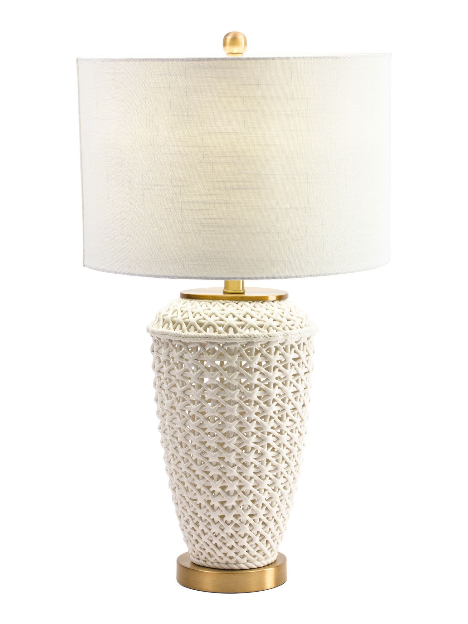 Ceramic Open Weave Table Lamp Products Pinterest