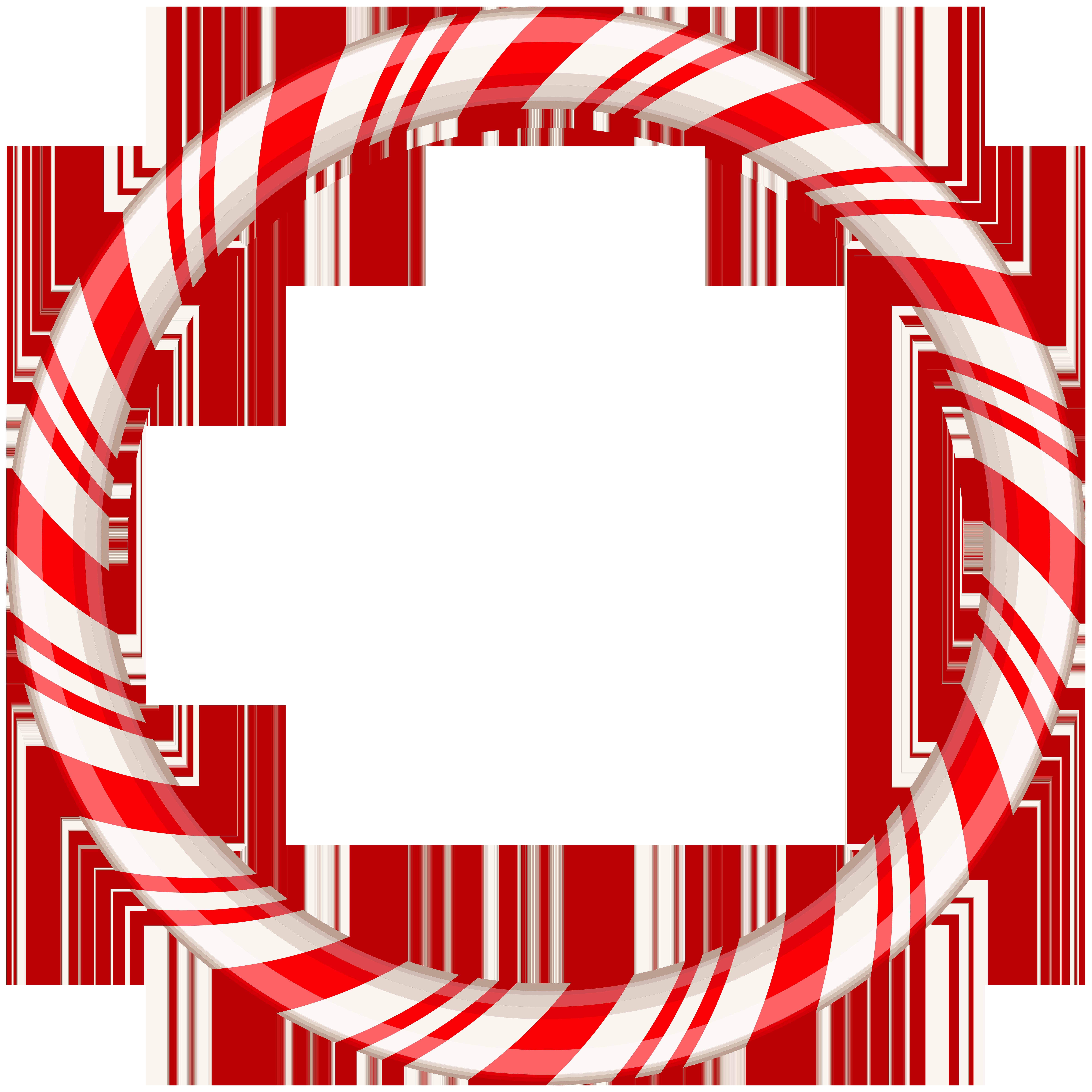 Candy Cane Round Border Frame Transparent Clip Art Natal